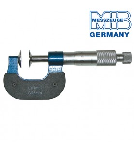 0-25mm Micrometer with 20mm discs and non-rotating spindle MIB 01019096