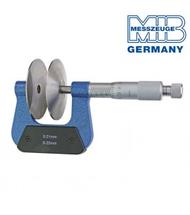0-25mm Micrometer with 60mm discs and non-rotating spindle MIB 01019105