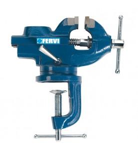 60mm Steel Vice with Swivel Base Fervi 0146-60