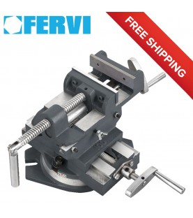 100mm 2-Way cross vice with swivel base FERVI 0188/100G
