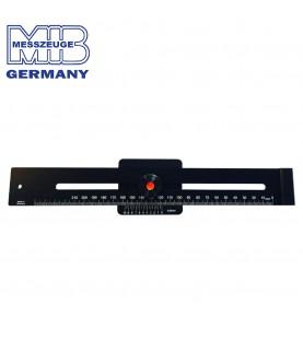 250mm Marking gauge made of black aluminium 63HRC MIB 05057021