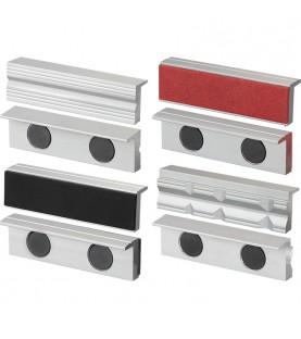 100mm Aluminium magnetic jaw 4 pairs FERVI 0520/100S