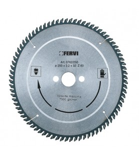 250x3,2x32mm Z60 Aluminum and plastic carbide tipped saw blade
