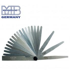 0,05-1,00mm Precision feeler gauge - blades: 20 MIB 08078009
