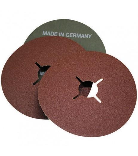 125mm Grain 40 Fiber disc brown