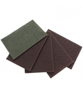 150x230mm Abrasive fleece pads medium red
