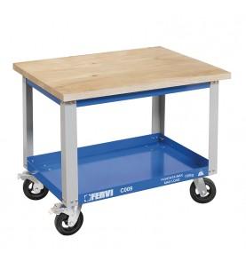 Cart with wooden shelf FERVI C009