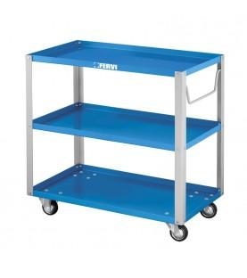 Three shelves trolley FERVI C650