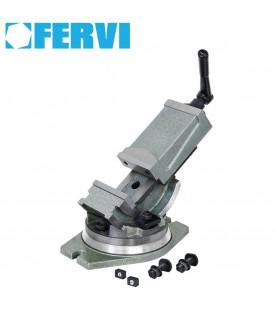 160mm Tilting milling machine vice with 360° swivel base FERVI M530/160
