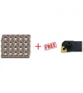 CNMG120408 insert 20pcs + FREE MCLNR/L… Toolholder