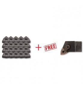 WNMG080408 insert 20pcs + FREE MWLNR/L… Toolholder