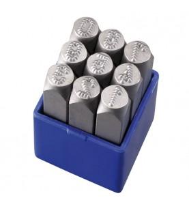HRC 58-60 Numbers 9pcs L=6mm micro stress FERVI P012/N06P