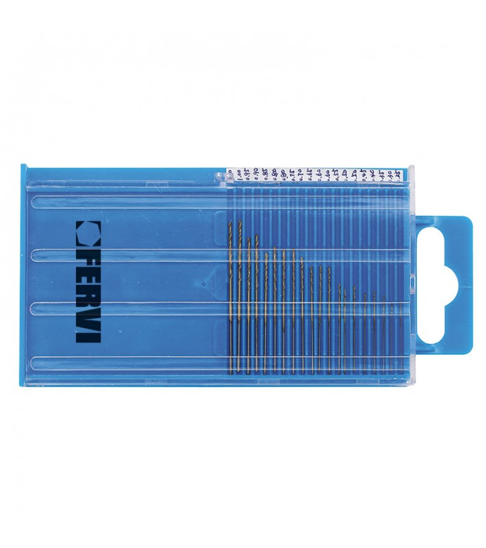 0,25-1mm Twist drill set 20pcs. FERVI P068