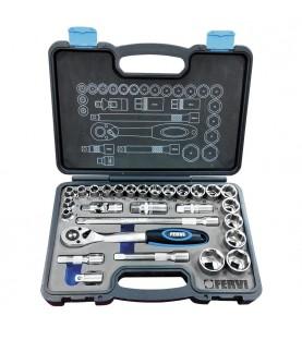 1/2 Dr. socket set 28pcs. 8-32mm FERVI S328
