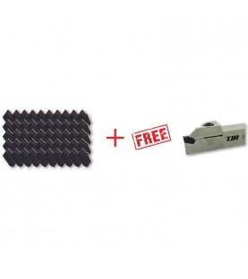 SP400 carbide turning parting insert INOX 50pcs + FREE ZQ... Toolholder