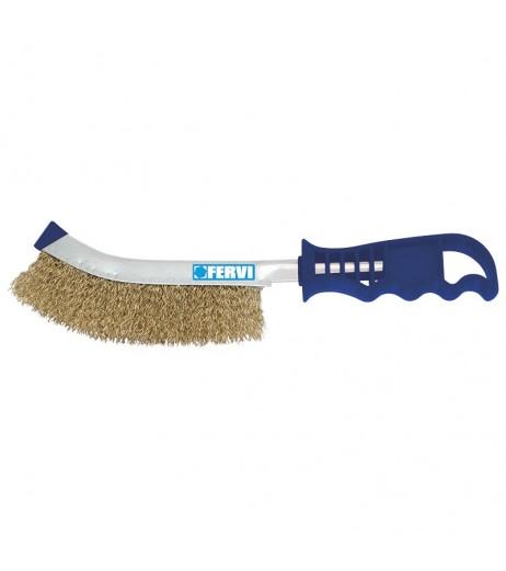 Hand wire brush from steel FERVI 0251