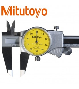 150mm Dial calliper gauge (0,01mm) with thumb roller