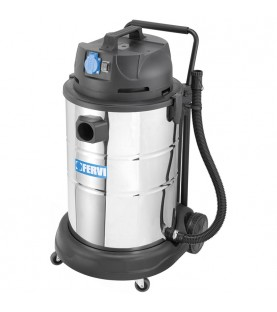 Industrial wet and dry vacuum cleaner equipped of accessories FERVI A040/60A