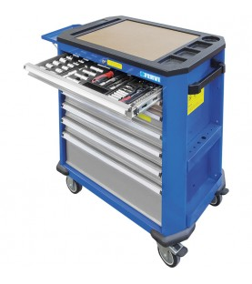7 Drawers roller cabinet with tools FERVI C190C