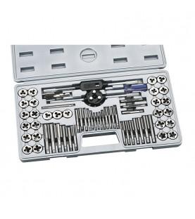 60pcs Alloy tool steel taps and die metric set FERVI M101