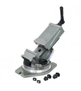 100mm Tilting milling machine vice with 360° swivel base FERVI M530/100