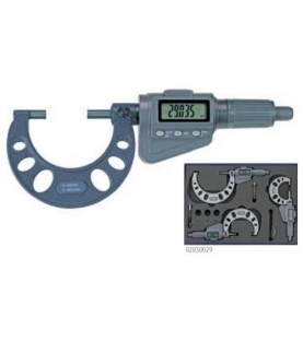 Set of 3 digital micrometers 0-100mm with friction ratchet MIB 02030029