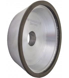 11A2 100x35x6x2x20mm SDC120 R75 Diamond cup wheel dry grinding
